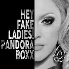 Pandora Boxx Text Portrait