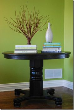 Refinished and redesigned oak pedestal table