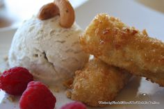 Thai Fried Bananas with Honey and Coconut Ice Cream