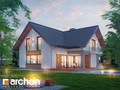 Small House Exteriors, Dream House Exterior, New House Plans, Small House Plans, Roof Styles, House Styles, Dormer Bungalow, German Houses, Beautiful Modern Homes