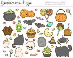 Happy Halloween  Halloween Digital Clipart by GraphicsAreMagic