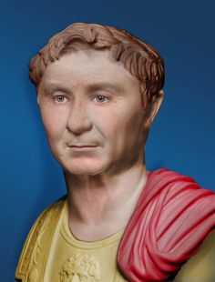 Colorization of Bust of Pompey the Great, Roman general