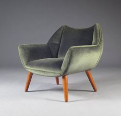 Easy chair by Kurt Østervig in beautiful mohair.