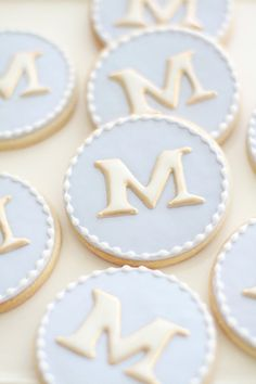 Monogram Cookies One Dozen by bbsweetslove on Etsy, $42.00