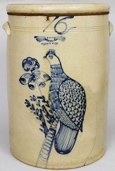 16-Gallon Midwestern Stoneware Bird Crock