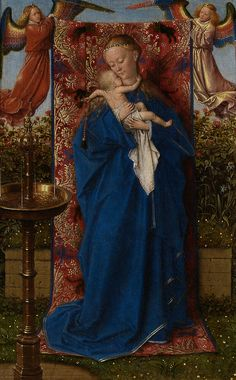 classic-art:  Madonna at the Fountain Jan van Eyck