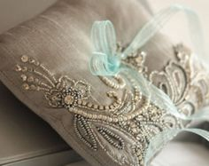 Wedding Ring Pillow - Nico Grey * Silk fabric * Measures 6 inches approximately on all sides Note:- The color intensity of the fabric will Ring Bearer Pillows, Ring Pillows, Lace Pillows, Ring Pillow Wedding, Wedding Pillows, Bridal Bracelet, Bridal Rings, Neutral Wedding Colors, Cool Wedding Rings