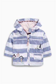 Next Blue/White Stripe Embellished Jacket (0mths-2yrs) £15.50