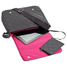 The Container Store > Quilted Crossbody Carry-All by baggallini®  - Oooo, and it fits an iPad too...also.  ;)