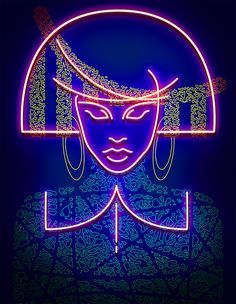 Lights//5 by Vasya Kolotusha #neon #demon #art #graphic #fashion #illustration #style #editorial #magazine #asia #japan #disco #beauty