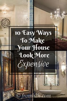 LOVE these home decorating tips for how to upgrade a builder grade home on a budget. These will help make my house look a lot more expensive! Click through to learn all the interior design tips for updating your home.