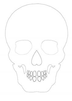 Skull outline for basis of papercut., drawing or colouring - Would be great to use for sugar skulls.