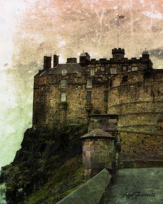 Edinburgh Castle Scotland Photography Architecture by AgaFarrell
