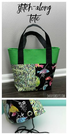 A tip for adding a fun little accent to any bag, making it into the perfect yarn project carrier! The pattern used, The Stitch-along tite, is not a free pattern/tutorial.