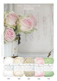 Rozen in de tuin, in huis of om te haken...... De patroontjes van knop tot roos vind je hier: Knop - Ontluikend knopje - Roos