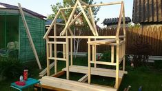 Diy Playhouse, Play Houses, Playground, Photo Wall, Projects, Games, Children Playground, Log Projects, Photograph