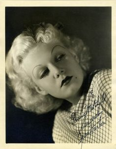 """""""I'm home-conscious, if there's a phrase like that."""" JEAN HARLOW"""