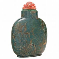Chinese Moss Agate Snuff Bottle - by Doyle New York