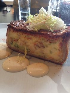 Whitefish quiche with frisée and grapefruit, brunch at GT Fish and Oyster, Chicago