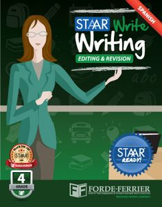 Texas STAAR Write Writing: Editing and Revision Workbook, Grade 4 (Spanish)
