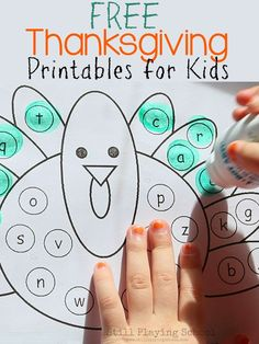 Free Thanksgiving Printables and Activities for Kids from Still Playing School