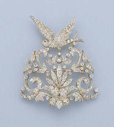 Antique Diamond Bird Brooch