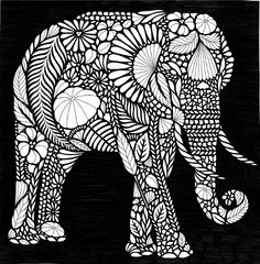 Inversion style #inversion #milliemarotta #blackandwhite #elephant #tropicalwonderland #colouring