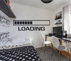 Gamer Wall Decal Loading Controller video game wall decals gamer wall decal Customized For Kids Bedroom Vinyl Wall Art Decals Gamer Bedroom, Girl Bedroom Walls, Wall Decals For Bedroom, Boys Bedroom Decor, Teen Girl Bedrooms, Vinyl Wall Decals, Wall Stickers Xbox, Bedroom Black, Vinyl Art