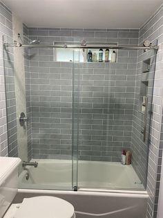 Shower Remodel, Bath Remodel, Shower Bath Combo, Upstairs Bathrooms, Bathroom Renos, Shower Doors, Bathroom Inspiration, Home Remodeling, Dreamline Shower