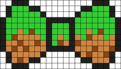 Minecraft Dirt Bow Perler Bead Pattern / Bead Sprite