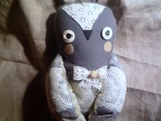 Sofya  owl ,  soft art  creature toy  by   Wassupbrothers.