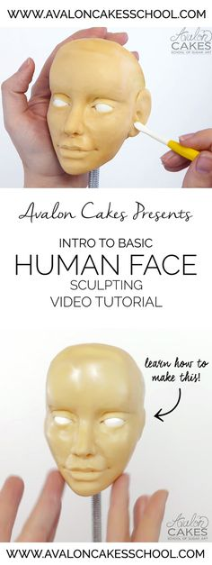 Learn how to make human faces out of edible materials! Perfect for cake deocrators but also a great lesson for other mediums.
