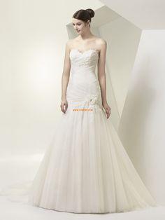 Délka dvorní Jaro 2014 Bez rukávů Svatební šaty 2014