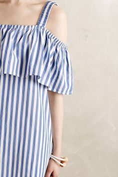 Rehoboth Stripe Mini Dress by WHIT Two #anthrofave #anthropologie
