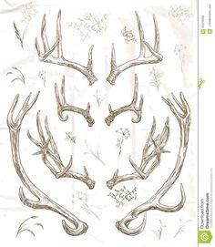 Chifres Dos Cervos Do Desenho Da Mão - Baixe conteúdos de Alta Qualidade entre mais de 56 Milhões de Fotos de Stock, Imagens e Vectores. Registe-se GRATUITAMENTE hoje. Imagem: 65479336