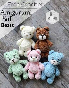 Free Crochet Bear Patterns,Bear Amigurumi Crochet Pattern-I have rounded up a huge list of free crochet teddy bear patterns for you to get inspired by these cute and soft teddy bears. You could absolutely make them with your own crochet hooks. Crochet Teddy Bear Pattern, Crochet Animal Patterns, Owl Patterns, Crochet Teddy Bears, Crochet For Kids, Free Crochet, Crochet Baby, Crochet Hooks, Softies