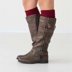 "Ready for winter layering? Get this season's hottest look with our cable knit  boot cuffs! These cuffs are offered in one size and can be worn with  both tall and short boots.  The boot cuffs measure roughly 6.5"" long by  5"" wide and will stretch up to 18""  in circumference.Please note that these cuffs may not stay up on bare legs, but will stay put when worn with leggings or skinny jeans.Your choice- 2 toned or solid.The 2 tone option is like getting two pairs for the price of one..."