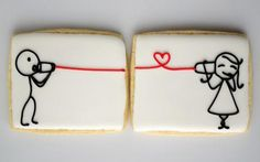 I have collected some cute love pictures for those who are in love. If you are in love, you will love these cute love pictures. Galletas Cookies, Iced Cookies, Cute Cookies, Sugar Cookies, Sweet Cookies, Making Cookies, Fancy Cookies, Valentines Day Cookies, Be My Valentine