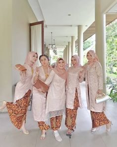 Image may contain: 5 people, people standing Kebaya Modern Hijab, Model Kebaya Modern, Kebaya Hijab, Kebaya Brokat, Model Dress Kebaya, Model Dress Batik, Batik Dress, Model Kebaya Muslim, Kebaya Wedding