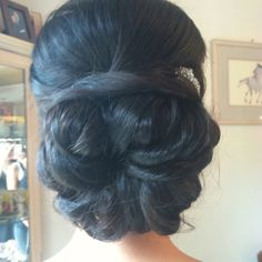 Bridal hair  Bridal bun