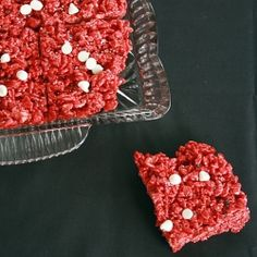 A spin on an old classic - Red Velvet Rice Krispie Treats
