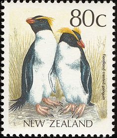 Fiordland Penguin stamps - mainly images - gallery format