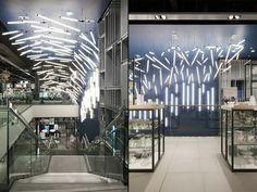 Breaking Wave installation for John Lewis by Paul Nulty Lighting Design, York – UK » Retail Design Blog