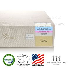 brentwood home 13inch gel hd memory foam rv mattress made in usa