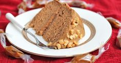 Healthy Peanut Butter Banana Cake with Caramel Frosting - DWB
