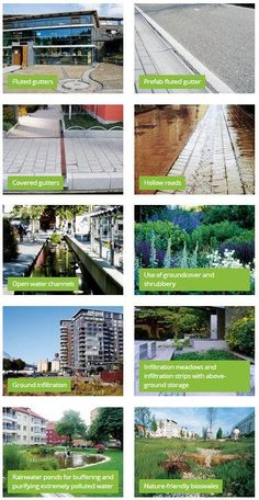 Atelier GroenBlauw provides a handy typology of sustainable urban design elements. Click image for full list & visit our popular Streets for Everyone board >> http://www.pinterest.com/slowottawa/streets-for-everyone/