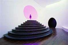"""Akhob (2013) by James Turrell -- Turrell creates a similar experience of """"Ganzfeld"""": a German word to describe the phenomenon of the total loss of depth perception as in the experience of a white-out."""