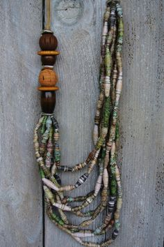 Women's jewelry, handmade necklace, statement jewelry, multi layer necklace, bohemian, beaded necklace, layered jewelry, gift jewelry by thepaperbeadery on Etsy https://www.etsy.com/listing/257454084/womens-jewelry-handmade-necklace