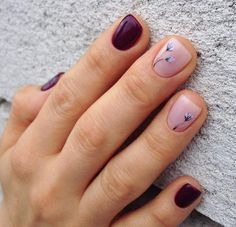 32 Ideas for gel manicure burgundy nailart Gorgeous Nails, Pretty Nails, Neutral Nail Polish, Cute Nail Colors, Super Nails, Stylish Nails, Gel Manicure, Blue Nails, Burgundy Nails