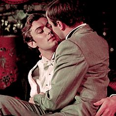 Jude Law as Oscar Wilde's naughty boyfriend Lord Alfred Douglas playing around with someone else in the movie Wilde, 1997. excellent film too